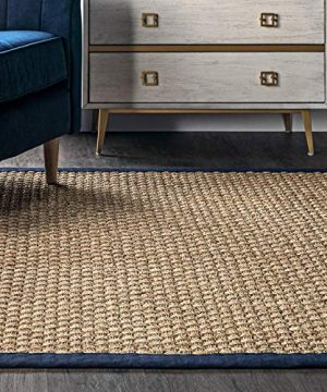 NuLOOM Hesse Seagrass Solid Outdoor Area Rug 9 X 12 Navy 0 0 300x360