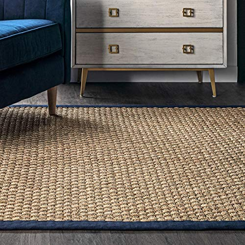 NuLOOM Hesse Seagrass Solid Outdoor Area Rug 9 X 12 Navy 0 0