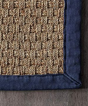 NuLOOM Hesse Seagrass Solid Outdoor Area Rug 9 X 12 Navy 0 1 300x360