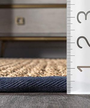 NuLOOM Hesse Seagrass Solid Outdoor Area Rug 9 X 12 Navy 0 4 300x360