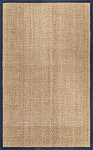NuLOOM Hesse Seagrass Solid Outdoor Area Rug 9 X 12 Navy 0 5