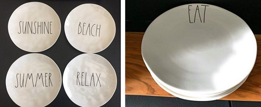 rae dunn plates sets