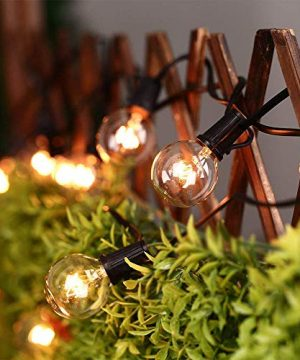 50Ft String Lights G40 String Lights With 52 Clear Bulbs UL Listed For Patio Garden Wedding Backyard Deck Pergolas Gazebos Blacony String Lights Indoor Outdoor Commercial Use Black Wire 0 4 300x360