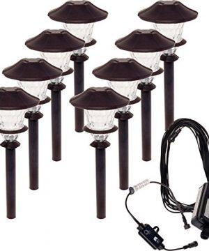 8 Pack Paradise Aluminum LED Low Voltage Path Light Kit Oiled Bronze 0 300x360