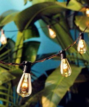 AGICLIGHT 25ft Outdoor Edison Bulb String Lights ST35 Edison BulbsPlus 2 Extra Bulbs UL Listed For IndoorOutdoor Decor Perfect For GardenBackyardPergolaPatioParty Black 0 1 300x360
