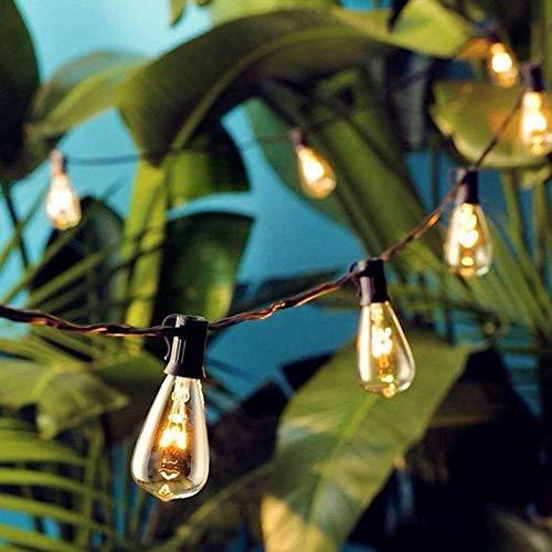 AGICLIGHT 25ft Outdoor Edison Bulb String Lights ST35 Edison BulbsPlus 2 Extra Bulbs UL Listed For IndoorOutdoor Decor Perfect For GardenBackyardPergolaPatioParty Black 0 1