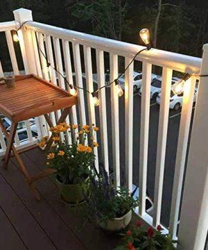 AGICLIGHT 25ft Outdoor Edison Bulb String Lights ST35 Edison BulbsPlus 2 Extra Bulbs UL Listed For IndoorOutdoor Decor Perfect For GardenBackyardPergolaPatioParty Black 0 2 300x360
