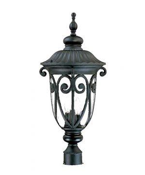 Acclaim 2127BK Naples Collection 3 Light Post Mount Outdoor Light Fixture Matte Black 0 300x360
