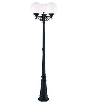 Acclaim 5269BKWH Havana Collection 3 Head Post Combination 3 Light Outdoor Post Light Matte Black 0 300x360