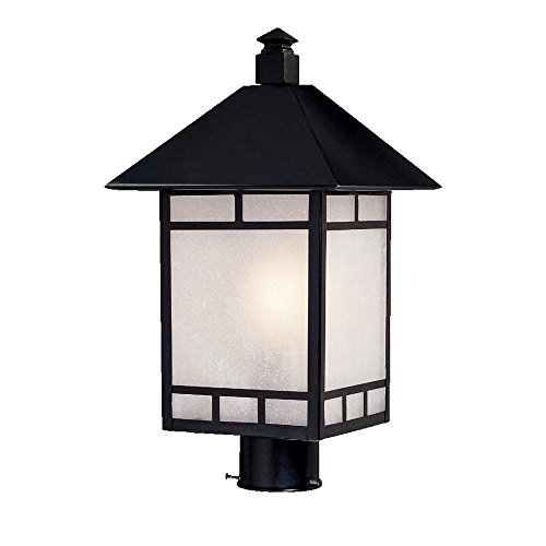 Acclaim 9027BK Artisan Collection 1 Light Post Mount Outdoor Light Fixture Matte Black 0 0