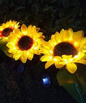 Aconka Flower Solar Lights LED Solar Lights Waterproof Artificial Flower Lamp Create Charming Night Landscape For Outdoor Garden Patio Yard Backyard Decoration Pack Of 2 0 300x360