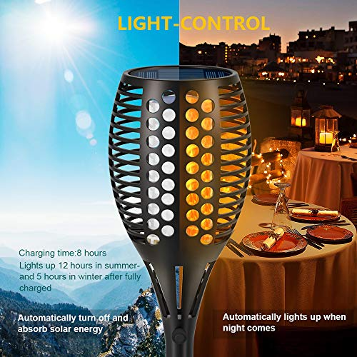 Aityvert Solar Lights 43 Flickering Flames Torch Lights Outdoor Waterproof Landscape Decoration Lighting Dusk To Dawn Auto OnOff Security Flame Lights For Yard Garden Pathway Driveway 4 Pack 0 0