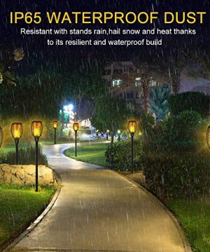 Aityvert Solar Lights 43 Flickering Flames Torch Lights Outdoor Waterproof Landscape Decoration Lighting Dusk To Dawn Auto OnOff Security Flame Lights For Yard Garden Pathway Driveway 4 Pack 0 3 300x360