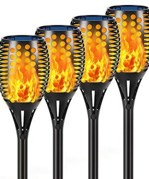 Aityvert Solar Lights 43 Flickering Flames Torch Lights Outdoor Waterproof Landscape Decoration Lighting Dusk To Dawn Auto OnOff Security Flame Lights For Yard Garden Pathway Driveway 4 Pack 0 300x360