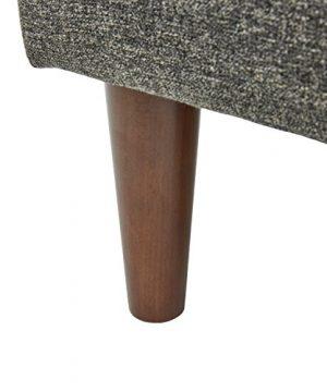 Amazon Brand Rivet Ava Mid Century Modern Upholstered Ottoman 256W Dark Grey 0 0 300x360