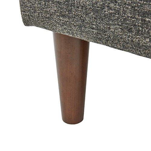 Amazon Brand Rivet Ava Mid Century Modern Upholstered Ottoman 256W Dark Grey 0 0