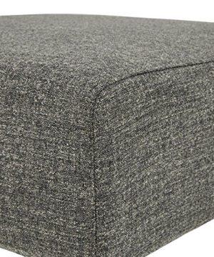 Amazon Brand Rivet Ava Mid Century Modern Upholstered Ottoman 256W Dark Grey 0 1 300x360