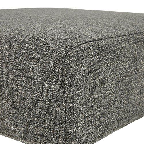 Amazon Brand Rivet Ava Mid Century Modern Upholstered Ottoman 256W Dark Grey 0 1