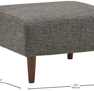 Amazon Brand Rivet Ava Mid Century Modern Upholstered Ottoman 256W Dark Grey 0 2 300x290