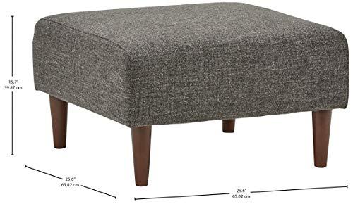 Amazon Brand Rivet Ava Mid Century Modern Upholstered Ottoman 256W Dark Grey 0 2