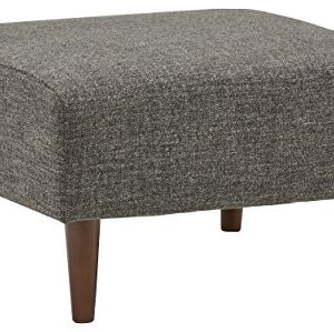 Amazon Brand Rivet Ava Mid Century Modern Upholstered Ottoman 256W Dark Grey 0 300x299