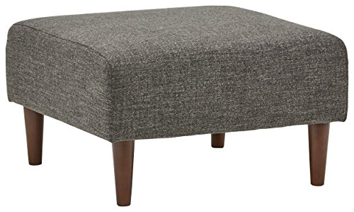 Amazon Brand Rivet Ava Mid Century Modern Upholstered Ottoman 256W Dark Grey 0
