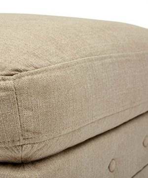 Amazon Brand Stone Beam Bradbury Chesterfield Modern Tufted Ottoman 303W Hemp 0 300x360