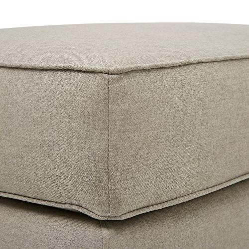 Amazon Brand Stone Beam Dalton Performance Fabric Ottoman 33W Stone 0 0