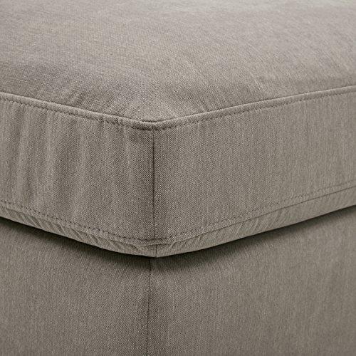 Amazon Brand Stone Beam Lauren Down Filled Oversized Ottoman With Hardwood Frame 465W Slate 0 0