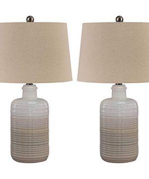 Ashley Furniture Signature Design Marnina Ceramic Table Lamp Set Of Two Taupe 0 300x360