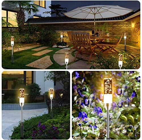 B Right Path Lights Outdoor 6 Pcs LED Pathway Lights Acrylic Bubble 12V Low Voltage Landscape Lighting Plug In Extendable Waterproof Garden Lights 360 Lumens For Patio Yard Lawn 2700K 0 1