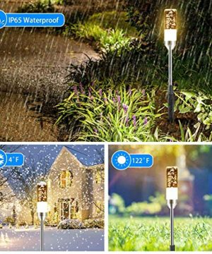 B Right Path Lights Outdoor 6 Pcs LED Pathway Lights Acrylic Bubble 12V Low Voltage Landscape Lighting Plug In Extendable Waterproof Garden Lights 360 Lumens For Patio Yard Lawn 2700K 0 3 300x360