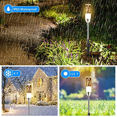 B Right Path Lights Outdoor 6 Pcs LED Pathway Lights Acrylic Bubble 12V Low Voltage Landscape Lighting Plug In Extendable Waterproof Garden Lights 360 Lumens For Patio Yard Lawn 2700K 0 3
