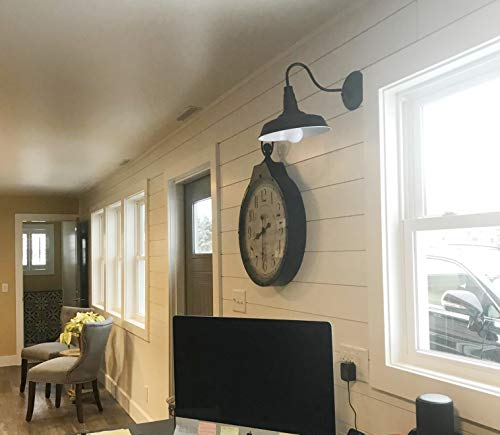 BRIGHTESS W8901 Indoor Outdoor Retro Black Barn Lights Gooseneck Barn Lights Industrial Vintage Farmhouse Wall Lamp Led Porch Light Fixtures Set Of Two Hardwired Finish2 Packs 0 4