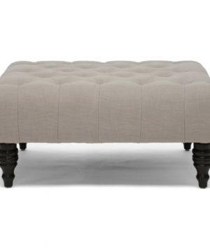 Baxton Studio Keswick Linen Modern Tufted Ottoman Beige 0 0 300x360