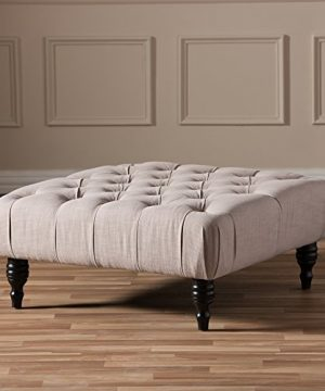 Baxton Studio Keswick Linen Modern Tufted Ottoman Beige 0 2 300x360