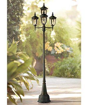 Bellagio Outdoor Post Light Veranda Bronze 102 4 Light Street Lantern Champagne Hammered Glass For Exterior Garden Yard John Timberland 0 300x360