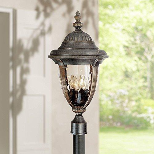 Bellagio Traditional Outdoor Light Post Fixture Veranda Bronze 24 12 Champagne Hammered Glass For Garden Yard Driveway John Timberland 0