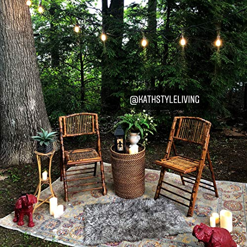 Brightech Ambience Pro Waterproof Outdoor String Lights Hanging Industrial 11W Edison Bulbs 48 Ft Vintage Bistro Lights Create Great Ambience In Your Backyard Gazebo 0 2