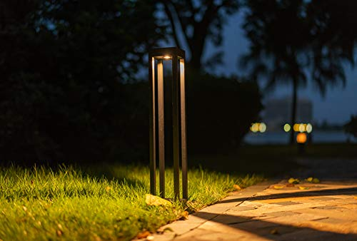 CNBRIGHTER LED Landscape Path Lights10W CREE Chip2 Ft 60cm HeightWaterproof Aluminum Square Outdoor Gardern Accent Pathway And Spread Area LightingWarm White 3000K 0 1