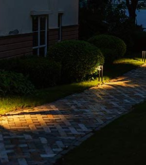 CNBRIGHTER LED Landscape Path Lights10W CREE Chip2 Ft 60cm HeightWaterproof Aluminum Square Outdoor Gardern Accent Pathway And Spread Area LightingWarm White 3000K 0 2 300x338