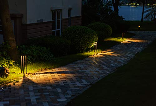 CNBRIGHTER LED Landscape Path Lights10W CREE Chip2 Ft 60cm HeightWaterproof Aluminum Square Outdoor Gardern Accent Pathway And Spread Area LightingWarm White 3000K 0 2