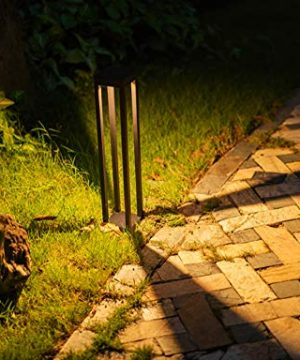 CNBRIGHTER LED Landscape Path Lights10W CREE Chip2 Ft 60cm HeightWaterproof Aluminum Square Outdoor Gardern Accent Pathway And Spread Area LightingWarm White 3000K 0 300x360