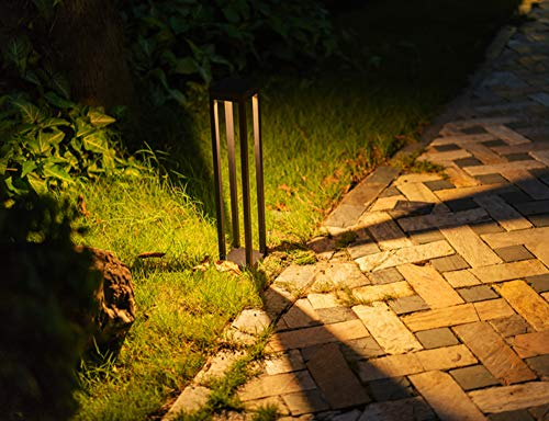 CNBRIGHTER LED Landscape Path Lights10W CREE Chip2 Ft 60cm HeightWaterproof Aluminum Square Outdoor Gardern Accent Pathway And Spread Area LightingWarm White 3000K 0