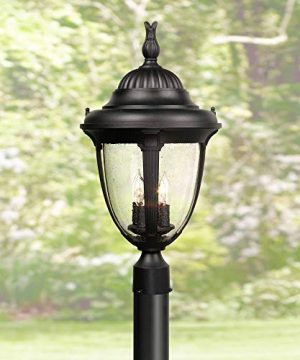 Casa Sierra Outdoor Post Light Fixture Black Colonial 24 12 Seeded Glass For Exterior Garden Yard Patio Driveway John Timberland 0 300x360