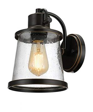 Charlie Outdoor Indoor Wall Sconce LED Bulb Included Oil Rubbed Bronze Clear Seeded Glass Shade44127 0 300x360
