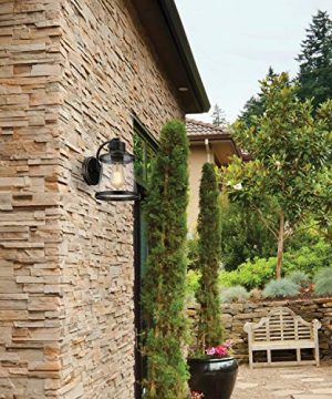 Charlie Outdoor Indoor Wall Sconce LED Bulb Included Oil Rubbed Bronze Clear Seeded Glass Shade44127 0 4 300x360