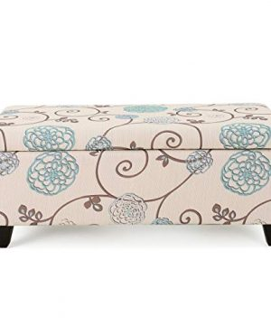 Christopher Knight Home Breanna Fabric Storage Ottoman White And Blue Floral 0 300x360