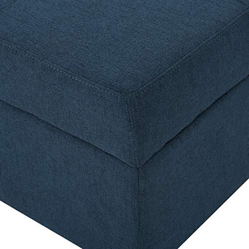 Christopher Knight Home Chatsworth Fabric Storage Ottoman Navy Blue 0 2