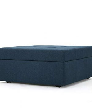 Christopher Knight Home Chatsworth Fabric Storage Ottoman Navy Blue 0 300x360